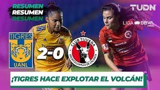 Resumen y Goles Tigres 2 - 0 Tijuana | Liga MX Femenil - Jornada 12 - Apertura 2019 | TUDN