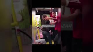 В Казани девушка в автобусе устроила разборки с колумбийским болельщиком