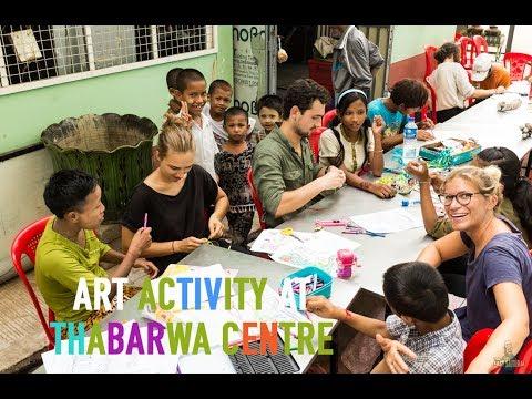 Art Activity at ThaBarWa Centre in Myanmar