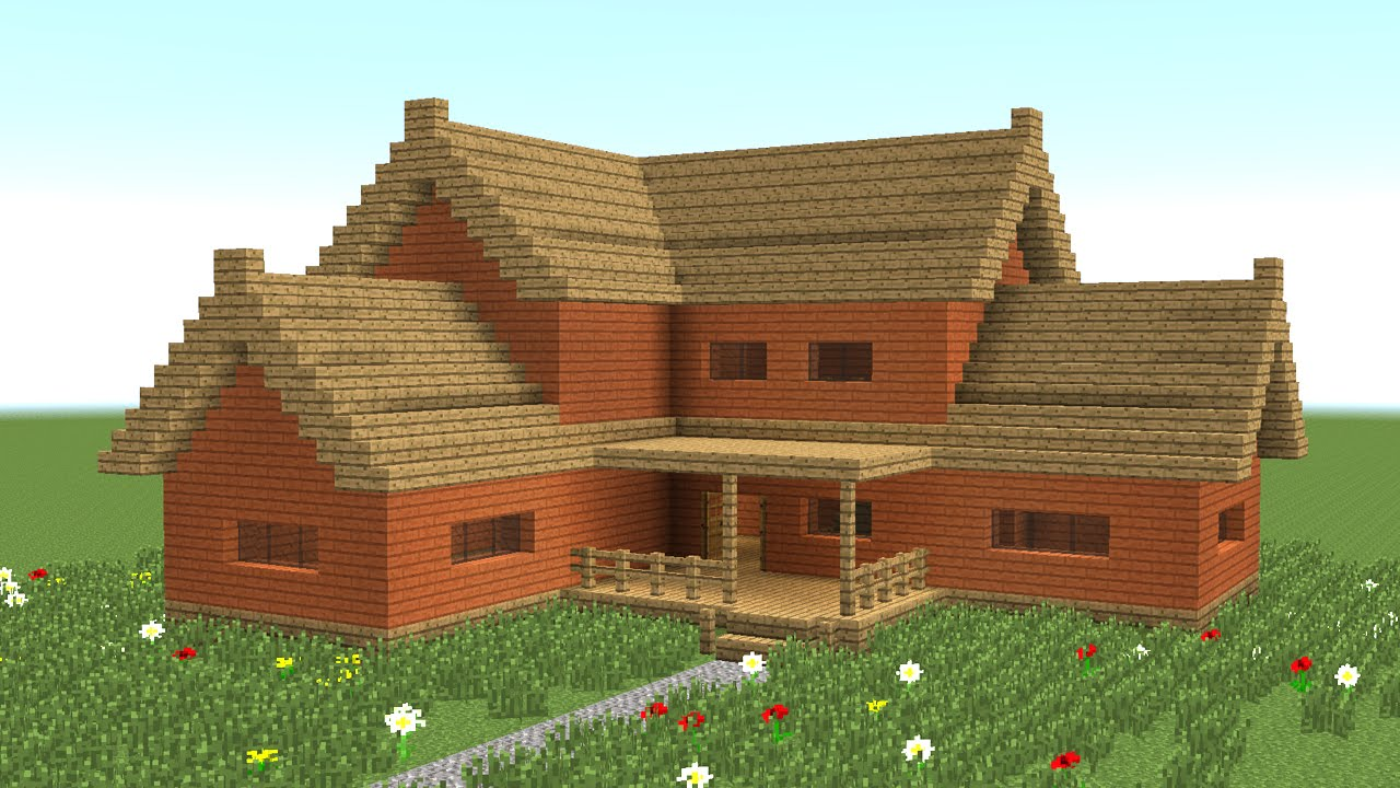 Minecraft  How To Build Big Wooden House  3