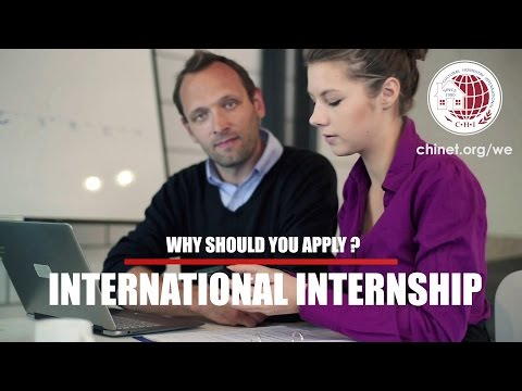 Are you looking for an international internship? This is it!