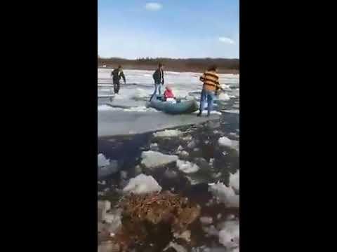 Переправа через реку Лена Жесть слабонервным не смотреть