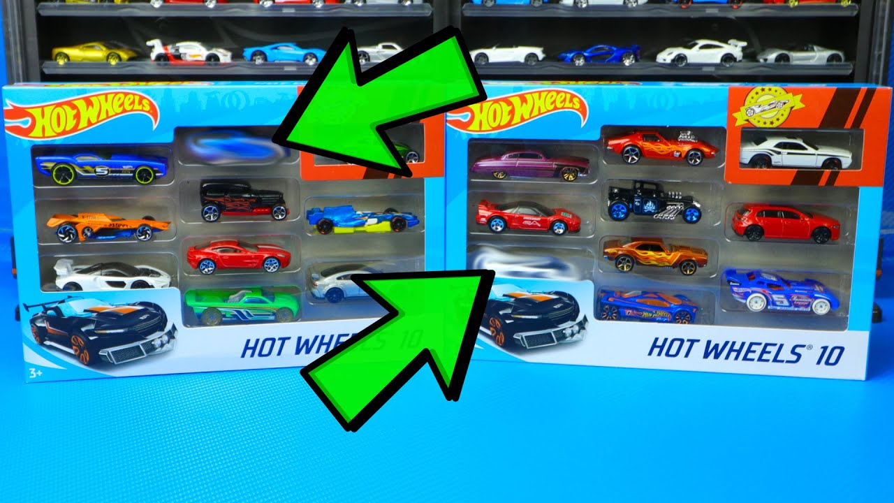 Opening Hot Wheels 10 Packs w/ Mclaren Senna + Tesla Model 3
