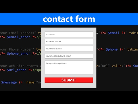 HTML/PHP Contact Form Tutorial with Validation and Email Sub