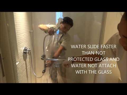Bathroom Glass Door Cleaning