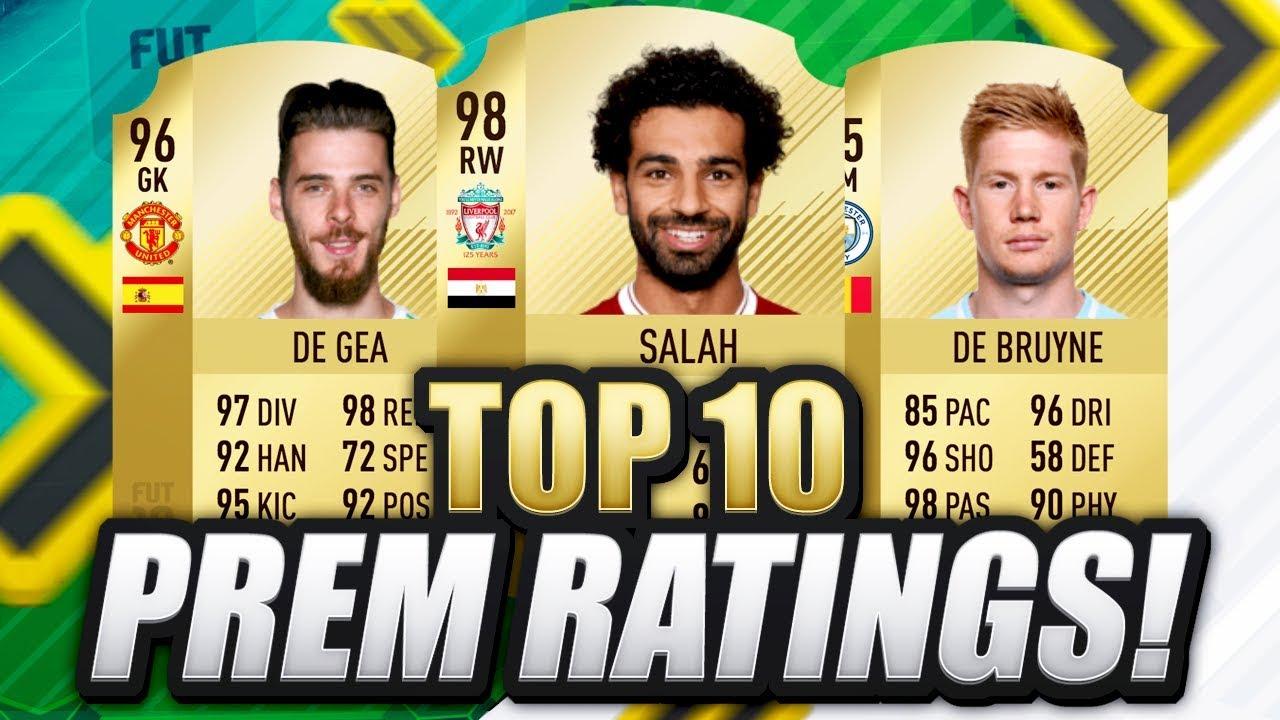 FIFA 19 TOP 10 PREMIER LEAGUE RATINGS!!? - YouTube