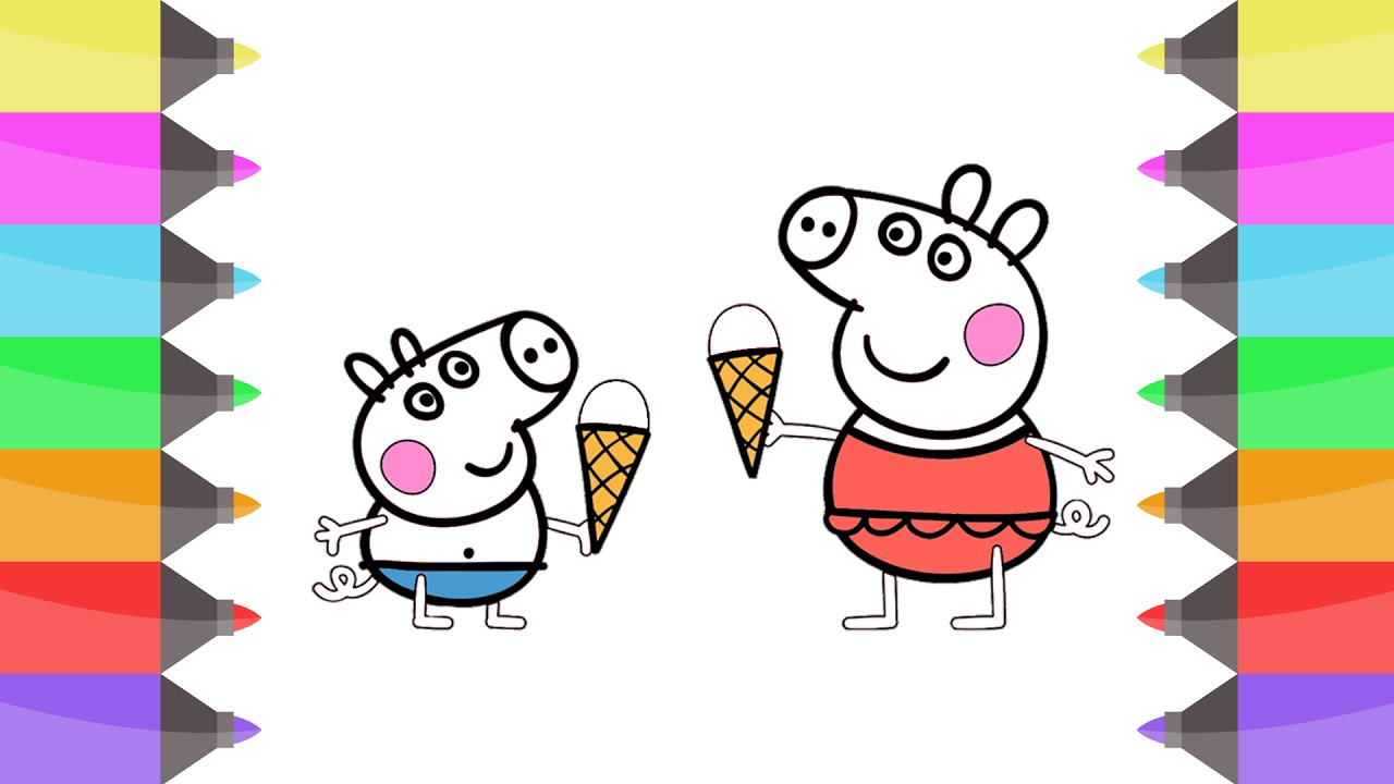 easy drawing peppa pigs for kids youtube