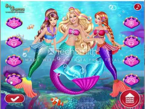 เกมส์บาร์บี้แต่งตัวเจ้าหญิงบาร์บี้นางเงือก Barbie Mermaid Coronation ♥mookmix♥