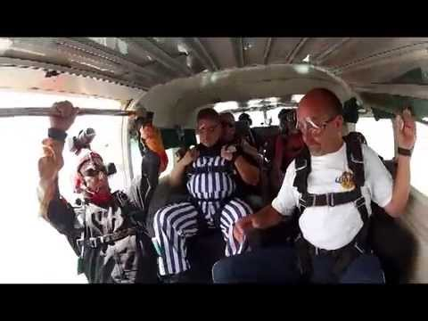 Fr. Tony Hesse Jumps with Westside Skydivers for Holy Trinity School