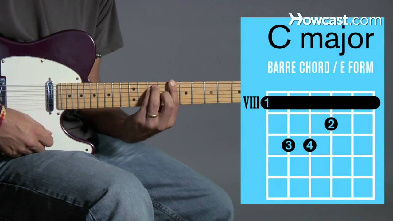 How To Play Barre Chords In C Major Guitar Lessons Youtube