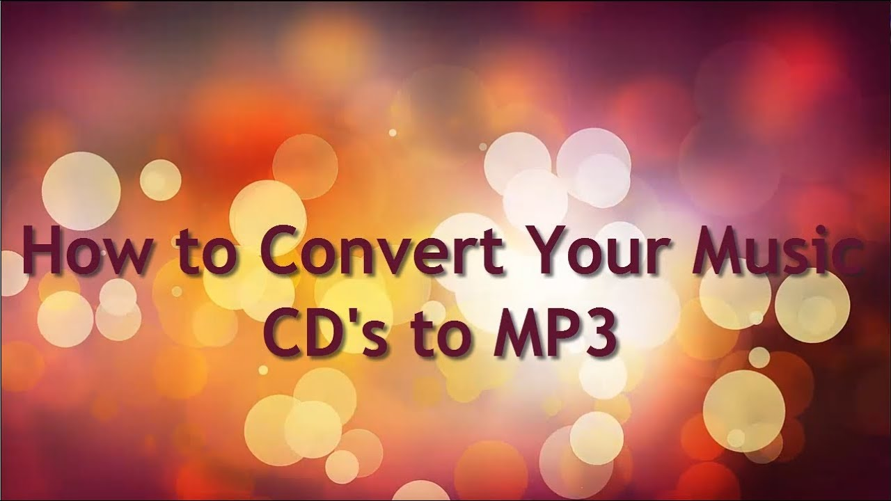 How to Convert Music CD to MP3 Free - YouTube