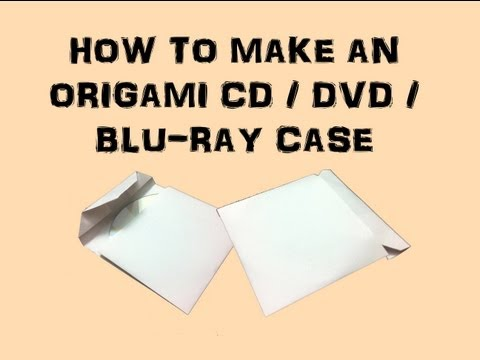 How to make an Origami CD/DVD/BluRay Case