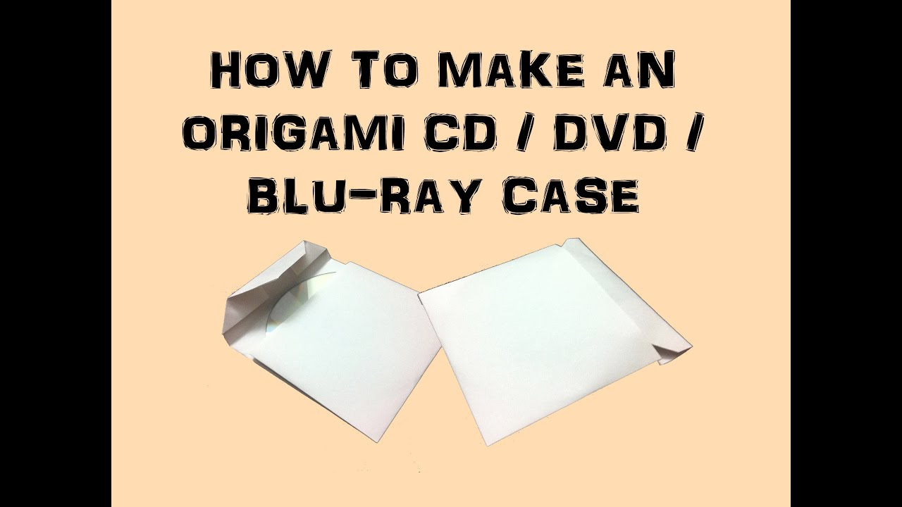 how to make an origami cddvdbluray case youtube