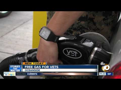 Military veterans get free gas at Oceanside gas station