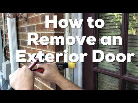 How to Remove an Exterior Door - EASY - DIY