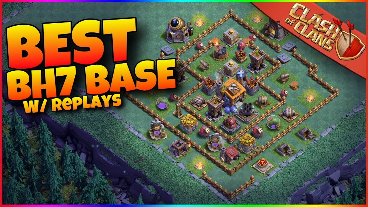 Best Builder Hall 7 Base In Clash Of Clans Never Get 3 Starred Youtube