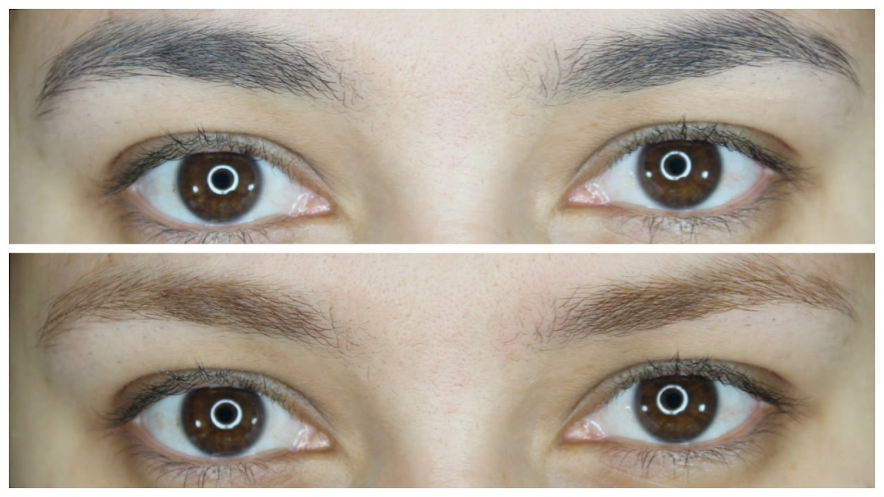 How To Lighten Your Brows At Home Lulubella83 Youtube