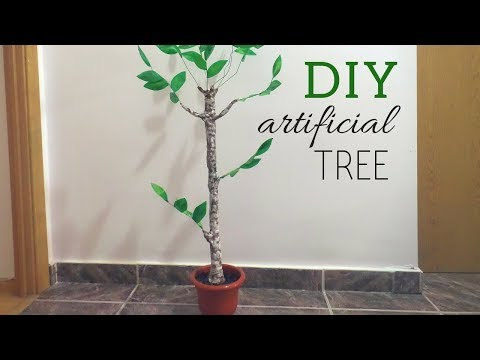 DIY Artificial Tree | How to make fake plants from scratch | by FluffyHedgehog