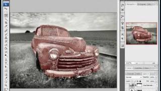 Как раскрасить черно-белое фото(Используя корректирующие слои, можно легко и просто раскрасить черно-белое фото. Результат насыщенностью..., 2009-11-03T14:08:48.000Z)