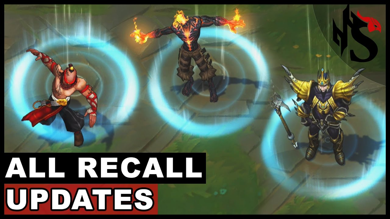 All Recall Updates 74 Champions Update 2017 League Of Legends