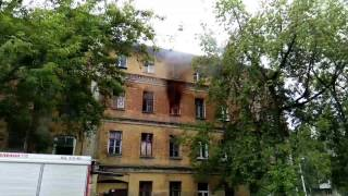 Пожар на 1 Советском переулке 19