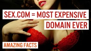 SEX.COM MOST EXPENSIVE DOMAIN EVER! - TOP 10 AMAZING FACTS + OUTTAKES #22
