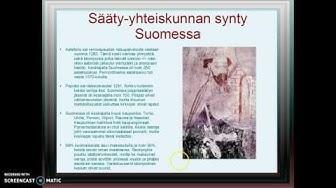 Sääty-yhteiskunnan synty Suomessa