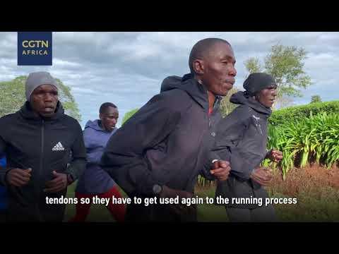 Training with marathoners in Kenya