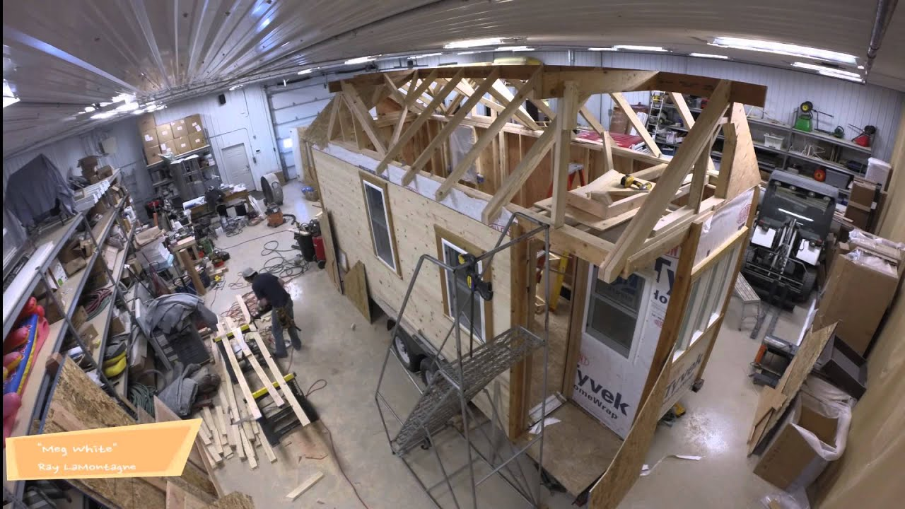 Tiny House Framing tiny house build floor framing trailer prep Waldo Tiny House Roof Framing Youtube
