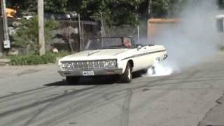 1964 Sport Fury Burnout