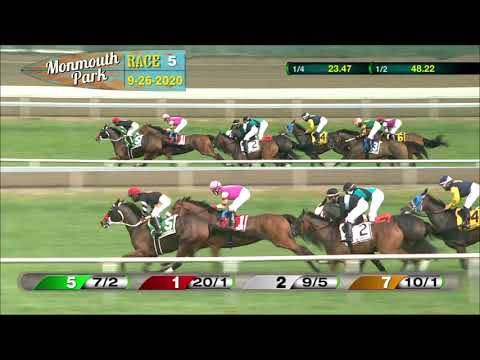video thumbnail for MONMOUTH PARK 09-26-20 RACE 5 – THE VIOLET STAKES