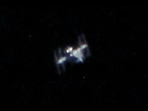 ISS from Earth through telescope - YouTube