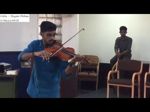 Shyam Violin playing Mandara cheppundo, Aayiram...