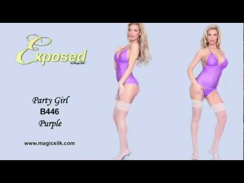 """Sexy Models in Hot Club Style Lingerie - """"Party Girl"""" By Magic Silk"""