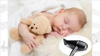 Usypiający dźwięk suszarki do włosów - szum suszarki 10 godzin! Na całą noc.