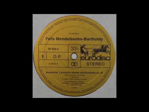 Mendelssohn, Piano Concerto No 1 ,  Kristin Merscher,Piano