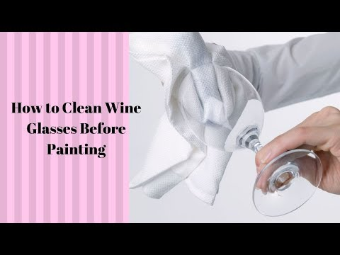 How to Clean Wine Glasses Before Painting | DIY | Folk Art Enamels | Aressa | 2019