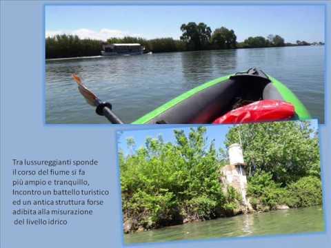 Tiber River on canoe