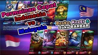 Permainan Cepat Bosku,KneEr amp Suku Barbar di MLBB National Arena Contest Indonesia vs Malaysia