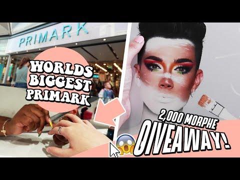 Worlds BIGGEST PRIMARK Vlog + Morphe x James Charles Palette GIVEAWAY!!! thumbnail