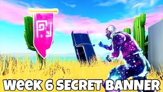 *FREE* SECRET BANNER LOCATION..! (NEW! Season 7 Week 6 Banner) Fortnite Battle Royale