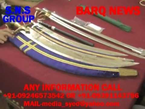 BARQ NEWS..TALWAR SEIZED FROM SALMAN ALI KHAN OF CHANCHAL GUDA..