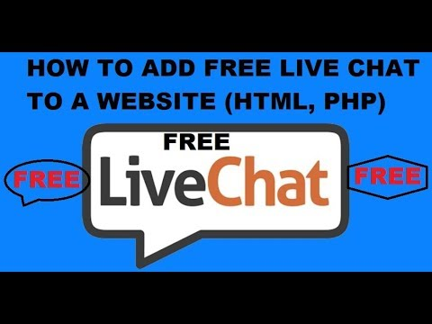How To Add Live Chat To A Website For Free | Enable Live Chat On An HTML And PHP Website