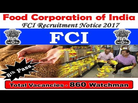 Food Corporation of India (FCI) Recruitment 2017 | Sarkari Naukri | Govt Job