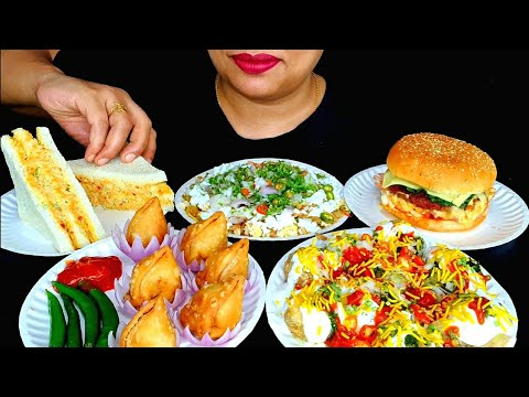 ASMR:CHICKEN CLUB SANDWICH,DOI FUSKA, SPICY CHOTPOTI,SPICY MINI SINGARA, BURGER ||ZAKIA-SPICY ASMR