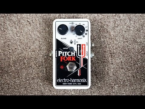 EHX / Electro-Harmonix Pitch Fork Pitch Shift Mode Demo (Ambient Guitar Style)