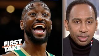 Stephen A. concedes the Celtics are better off with Kemba Walker than Kyrie Irving | First Take