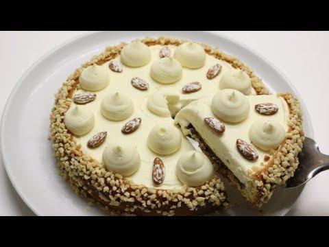 gÂteau-crÉmeux-aux-chocolat-blanc-amandes-facile-(cuisinerapide)