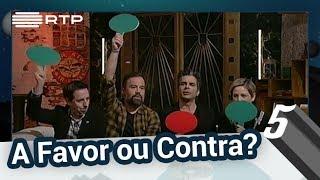 """""""A Favor ou Contra?"""" com Manuel Marques, Luís Filipe Borges, Jel e Paula Lobo Antunes"""