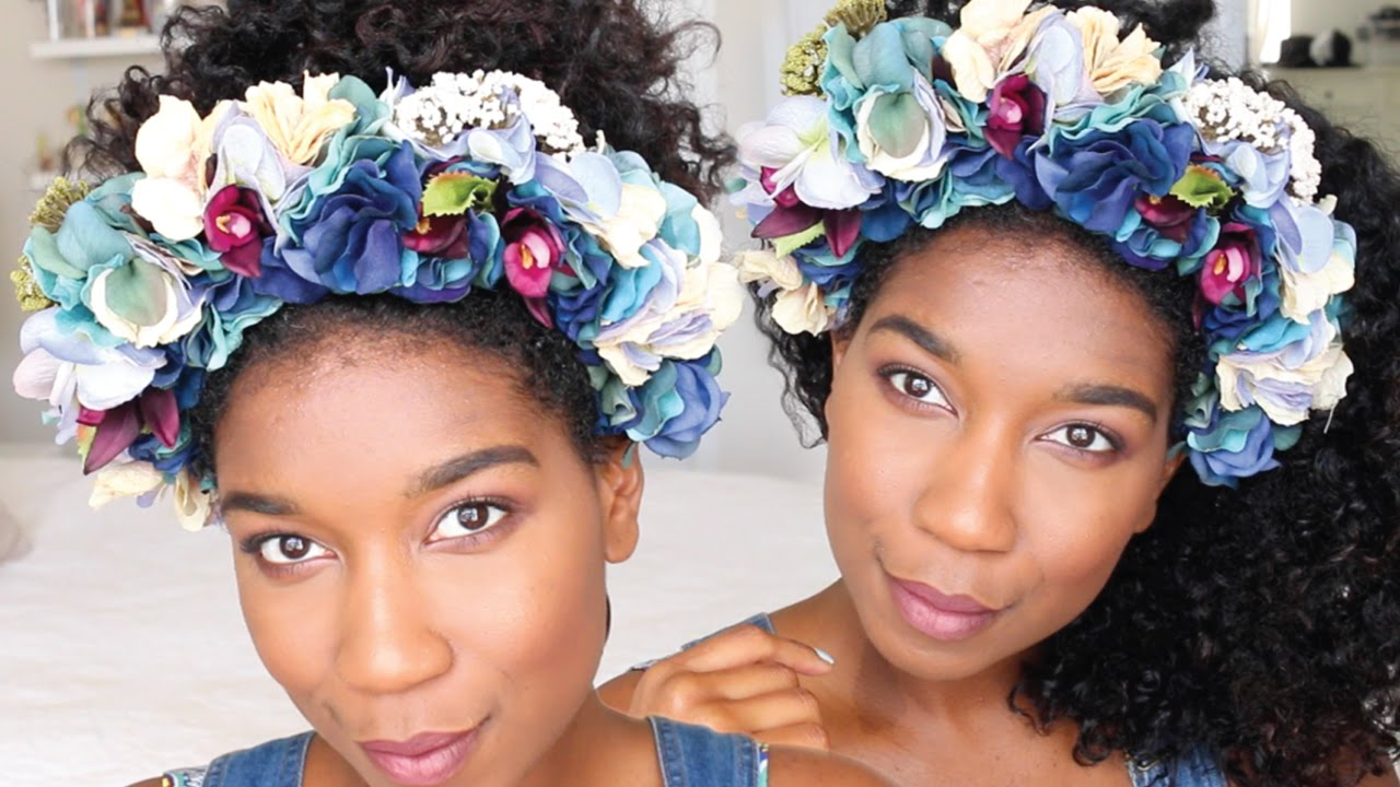 Diy chic flower crown headband no sew naptural85 youtube izmirmasajfo